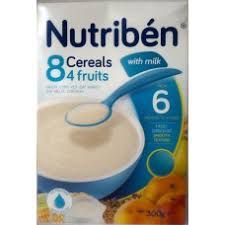 Nutriben 8 Cereals 4 Fruits With Milk (6mths -3yrs) 300g