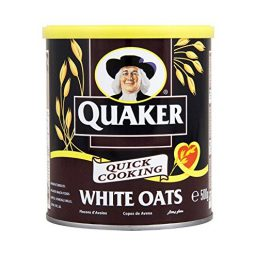 Quaker Oats Quick Cooking White Oats Tin 500g